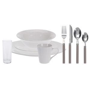 36-dielna jedálenská súprava Simple, biela