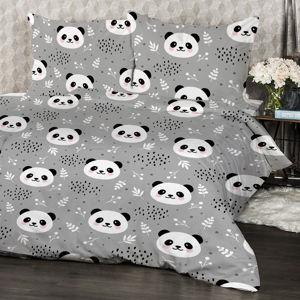 4Home Krepové obliečky Nordic Panda, 140 x 220 cm, 70 x 90 cm