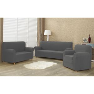 4home Multielastický poťah na sedaciu súpravu Comfort sivá, 180 - 220 cm