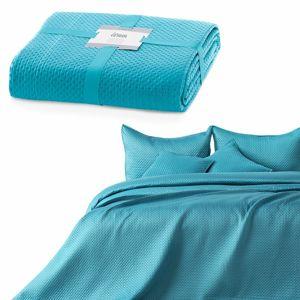 AmeliaHome Prehoz na posteľ Carmen turquoise, 220 x 240 cm