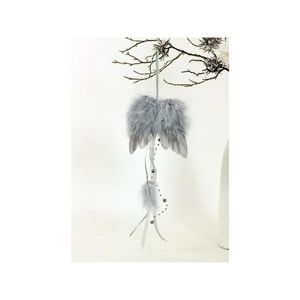 Anjelské krídla z peria 12 x 35 cm, sivá