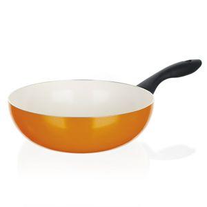 Hlíníková WOK pánev 24 x 7,3 cm oranžová Banquet