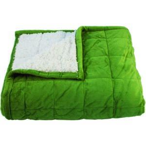 BO-MA Trading Baránková deka Sandra zelená, 150 x 200 cm