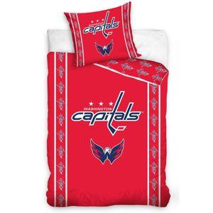 BedTex Bavlnené obliečky NHL Washington Capitals Stripes, 140 x 200 cm, 70 x 90 cm