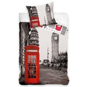Tiptrade Bavlnené obliečky Večerný Londýn, 140 x 200 cm, 70 x 90 cm