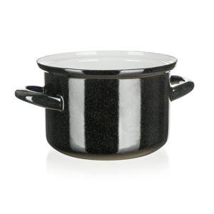 Belis Smaltovaný hrniec Standard 14 cm, čierna, pr. 14 cm