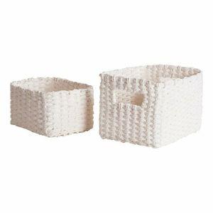 Compactor Set pletených košíkov Compactor Lisou, 2-dielny -biely