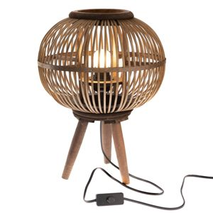 Dekoratívna bambusová lampa Almansa, 30 x 39 x 30 cm