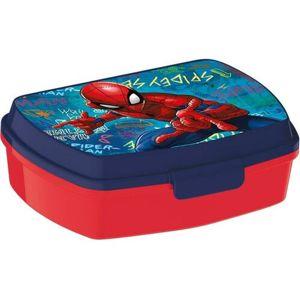 Desiatový box Spiderman 17,5 x 14,5 x 6,5 cm, modrá