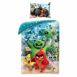 Halantex Detské bavlnené obliečky Angry Birds Movie 2 modrá, 140 x 200 cm, 70 x 90 cm