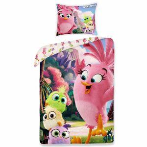 Halantex Detské bavlnené obliečky Angry Birds movie 1155, 140 x 200 cm, 70 x 90 cm