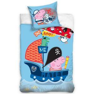 BedTex Detské bavlnené obliečky Prasiatko Peppa George Pirát, 140 x 200 cm, 70 x 90 cm