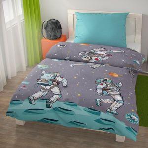 Kvalitex Detské bavlnené obliečky SPACE, 140 x 200 cm, 70 x 90 cm