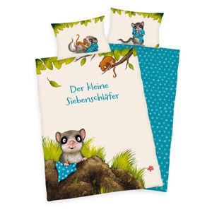 Herding Detské bavlnené obliečky do postieľky Das kleine Siebenschläfer, 100 x 135 cm, 40 x 60 cm