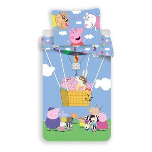 Jerry Fabrics Detské bavlnené obliečky Peppa Pig 001, 140 x 200, 70 x90 cm