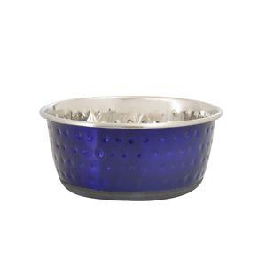 Karlie Nerezová miska Dots modrá, 950 ml