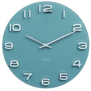 Karlsson 5640BL Designové nástenné hodiny, 35 cm