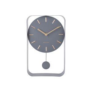 Karlsson Dizajnové kyvadlové nástenné hodiny 5796GY Karlsson 33cm