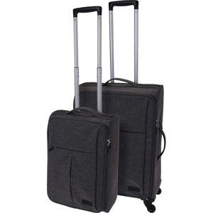 Koopman Sada textilných kufrov na kolieskach 2 ks, tmavosivá