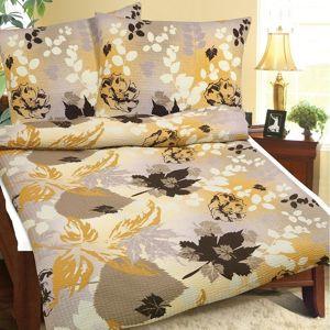 Bellatex Krepové obliečky Jesenné lístie, 240 x 200 cm, 2 ks 70 x 90 cm