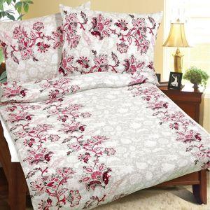 Bellatex Krepové obliečky Ružový kvet, 140 x 220 cm, 70 x 90 cm