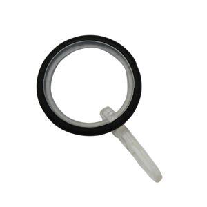 Gardinia Krúžky s vložkou a háčikom KRETA 19 mm, čierna matná, 10 ks