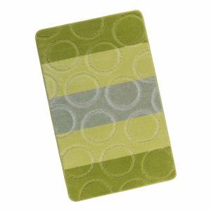 Bellatex Kúpeľňová predložka Avangard Krúžky zelená, 60 x 100 cm