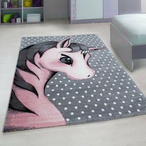 Vopi Kusový detský koberec Kids 590 pink, 80 x 150 cm