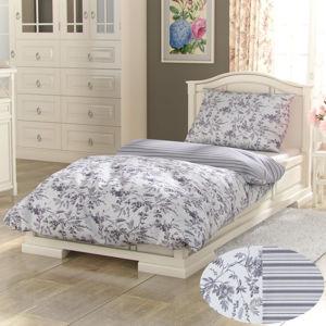 Kvalitex Bavlnené obliečky Provence Montera sivá, 240 x 200 cm, 2 ks 70 x 90 cm
