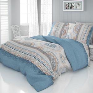Kvalitex Saténové obliečky Luxury Collection Carmela modrá , 240 x 200 cm, 2 ks 70 x 90 cm