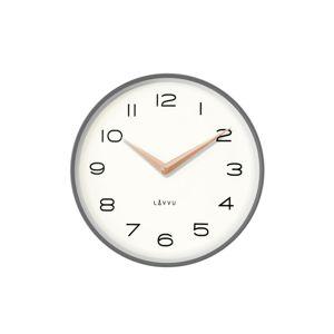 Lavvu LCT1214 Kovové hodiny Living, sivá a ružová