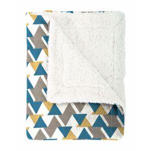 Mistral Home Beránková deka Triangle modrá, 130 x 170 cm