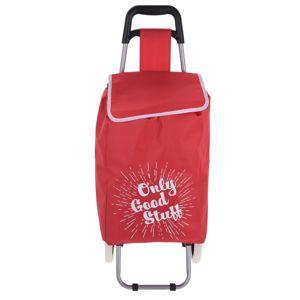 Koopman Nákupná taška na kolieskach Only Good Stuff, červená