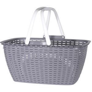 Nákupný košík Ratan, sivá