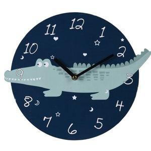 Nástenné hodiny Krokodíl, pr. 28 cm