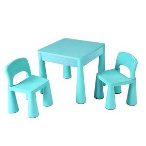 Detská sada stolček a dve stoličky NEW BABY mätová