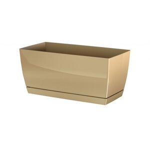 Prosperplast Plastový truhlík Coubi Case s miskou kávová, 24 cm, 24 cm