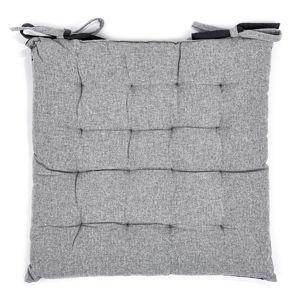 Trade Concept Prešívaný sedák Heda sivá, 40 x 40 cm