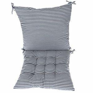 Dakls Prešívaný sedák Prúžky modrá, 40 x 40 cm