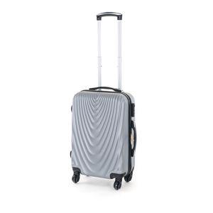 Pretty UP Cestovný škrupinový kufor ABS07 S, sivá