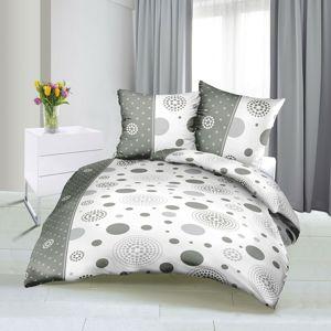 Bellatex Saténové obliečky Lúče sivá, 140 x 220 cm, 70 x 90 cm
