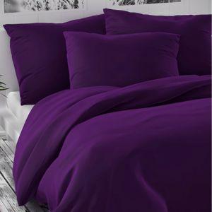 Kvalitex Saténové obliečky Luxury Collection tmavo fialová, 240 x 220 cm, 2 ks 70 x 90 cm