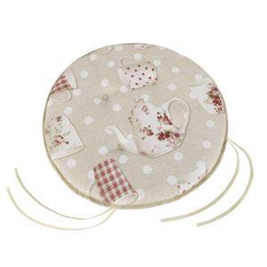 Bellatex Sedák EMA okrúhly hladký Hrnček s kanvičkou, 40 x 40 cm