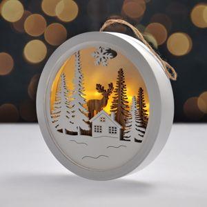 Solight Dekoratívny LED obrázok Winter time