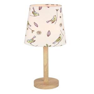 Tempo Kondela Stolná lampa Qenny 7, vtáčiky