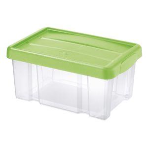 Tontarelli Úložný box s vekom Puzzle 5 l, transparentná/zelená