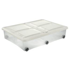 Tontarelli STOCKBOX 61L s vekom, kolieska transparent / krémová