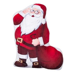 Jahu Tvarovaný 3D vankúšik Santa Claus, 30 x 40 cm