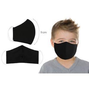 Bellatex Ústne bavlnené rúško UNI čierna - deti do 12 rokov